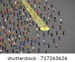 businessman spotlight. human...   Shutterstock .eps vector #717263626