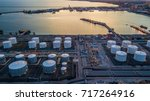 aerial view oil terminal is... | Shutterstock . vector #717264916