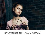 lifestyle  beautiful woman lost ... | Shutterstock . vector #717272932