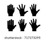 human hand palm vector... | Shutterstock .eps vector #717273295