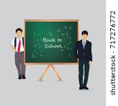 back to school vector... | Shutterstock .eps vector #717276772