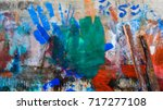 art on the wall    colorful | Shutterstock . vector #717277108