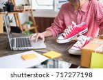 young start up small business... | Shutterstock . vector #717277198