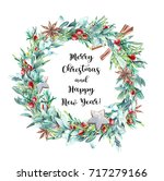 merry christmas and happy new... | Shutterstock . vector #717279166