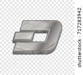 silver dash coin symbol... | Shutterstock .eps vector #717283942