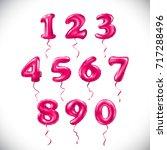 vector pink number 1  2  3  4 ...