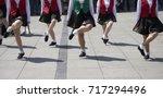 irish dancers | Shutterstock . vector #717294496