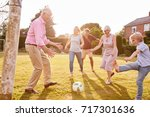 multi generation family playing ...   Shutterstock . vector #717301636