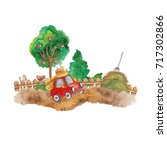 farm of local production.... | Shutterstock . vector #717302866
