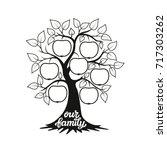 family tree. apple tree... | Shutterstock .eps vector #717303262