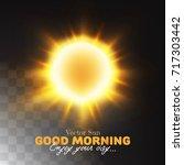 Beautiful Sun With Sunrays And...