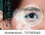 close up of woman eye in... | Shutterstock . vector #717305362