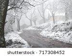 a mountain village in turkey.... | Shutterstock . vector #717308452