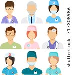 medical staff icons. doctors... | Shutterstock .eps vector #717308986