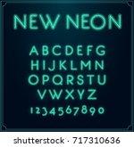neon font type alphabet.... | Shutterstock . vector #717310636