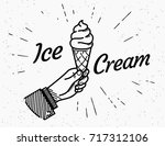 ice cream retro delicious... | Shutterstock .eps vector #717312106
