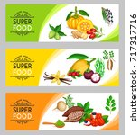 vector illustration superfood... | Shutterstock .eps vector #717317716