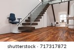 stairlift installation on... | Shutterstock . vector #717317872