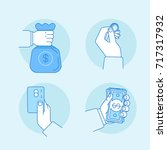 vector illustrations in flat... | Shutterstock .eps vector #717317932