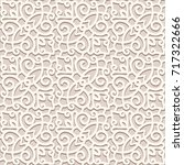 vintage beige background  lace... | Shutterstock .eps vector #717322666