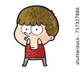 cartoon curious boy   Shutterstock .eps vector #717327886