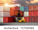 logistics and transportation of ... | Shutterstock . vector #717335482