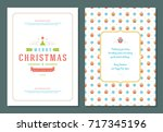 christmas greeting card design... | Shutterstock .eps vector #717345196