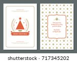 christmas greeting card design... | Shutterstock .eps vector #717345202