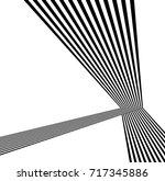 black and white stripe line... | Shutterstock .eps vector #717345886