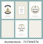 merry christmas greeting cards... | Shutterstock .eps vector #717346576