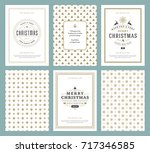 merry christmas greeting cards... | Shutterstock .eps vector #717346585
