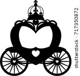 fairytale princess carriage in... | Shutterstock .eps vector #717350872
