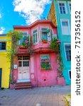 old quarter of istanbul ... | Shutterstock . vector #717356152