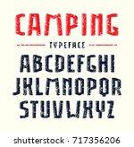 narrow sanserif bulk font with... | Shutterstock .eps vector #717356206
