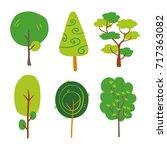 tree vector design   Shutterstock .eps vector #717363082