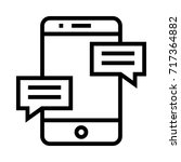 mobile messaging icon