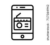 mobile radio icon | Shutterstock .eps vector #717364942