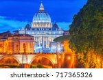 view on bridge vittorio... | Shutterstock . vector #717365326