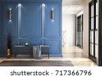 interior classic contemporary... | Shutterstock . vector #717366796