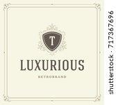 ornament logo design template... | Shutterstock .eps vector #717367696