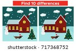 find differences game with... | Shutterstock .eps vector #717368752