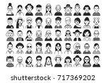 large collection of male and... | Shutterstock .eps vector #717369202