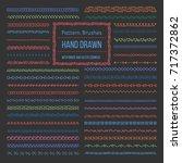 set of vector pattern brushes... | Shutterstock .eps vector #717372862