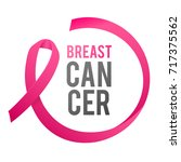 breast cancer awareness label.... | Shutterstock .eps vector #717375562