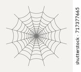 icon of spider web in linear... | Shutterstock .eps vector #717377665