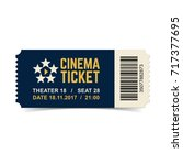 vector cinema ticket isolated... | Shutterstock .eps vector #717377695