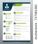 resume design template... | Shutterstock .eps vector #717381382
