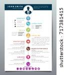 resume design template... | Shutterstock .eps vector #717381415