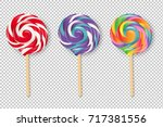 lollipop set  vector... | Shutterstock .eps vector #717381556