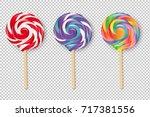 Lollipop Set  Vector...